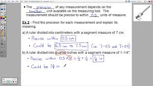 geometry 1 2 linear measure and precision youtube