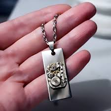 man necklace gift images Steampunk bdsm jewelry mens pendant dominant man necklace gift for him jpg