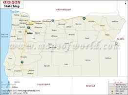 oregon state map map of oregon state