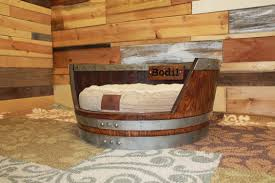 handmade wine barrel dog bed by art from ashes custommade com