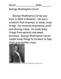 george washington carver reading comprehension free tpt