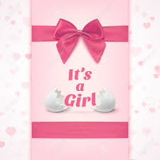it s a girl ribbon its a girl template for baby shower celebration or baby