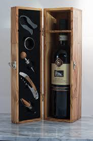 wine bottle gift box olive wood wine box with five gift set