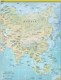 Map Of Russia And China by Theworldcontinents Asia