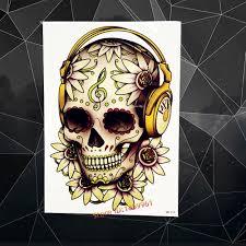 tattoo home decor online get cheap skull head tattoo aliexpress com alibaba group