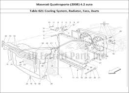 maserati maserati fans maserati quattroporte 2008 4 2 auto mechanical table 021 cooling