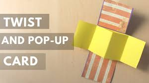 diy unique twist and pop up card tutorial easy card idea for