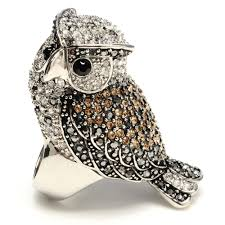 crystal owl necklace images Crystal owl ring shop amrita singh jewelry