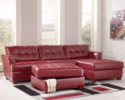 ashley furniture tufted sofa red leather theater sectionals red sectional sofa store chicago