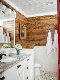 Rustic Bathroom Ideas Hgtv Small Bathroom With Alcove Bathtub Shower Bo And Limestone Wall