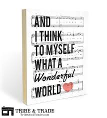 what a wonderful world wood wall art print 8x10 or