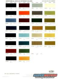 Ford Interior Paint Ford Interior Color Code Chart Brokeasshome Com