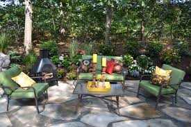 backyard design with kitchen dining and living modern small cool