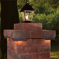 solar lights for driveway pillars hardscape lighting cambridge pavingstones outdoor living solutions