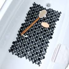 burst of bubbles bath mat black gray bathtub mat with suction cups