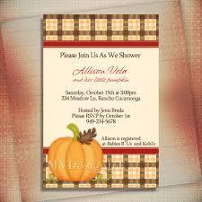 pumpkin birthday invitation pumpkin baby shower invitation