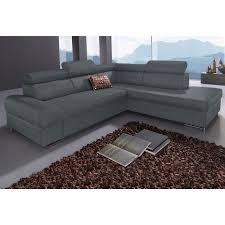 canapé d angle fixe canapé d angle fixe droit ou gauche en microfibre sit more gris