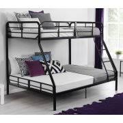 Chesterfield Upholstered Twin Over Twin Metal Bunk Bed White - Upholstered bunk bed