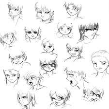 manga drawing a character
