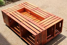 Wine Crate Coffee Table Diy by Diy Coffee Table Crates Les Proomis