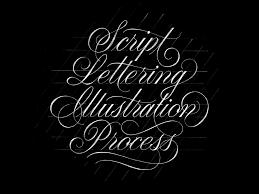 script lettering illustration process pies brand hand lettering