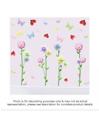 butterfly garden decorative decals dragonfly peel stick wall garden mural decal stickers for girls bedrooms