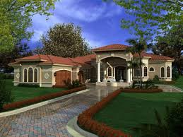 one story one story mediterranean house plans planskill contemporary