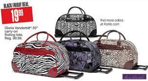 black friday luggage kohl u0027s black friday deals 2013