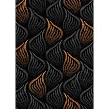 Grey And Orange Area Rug Luxury Home Tripoli Black Orange Area Rug Walmart Com