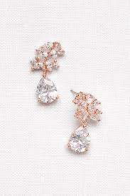 pear drop earrings cubic zirconia petals pear drop earrings david s bridal