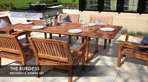 the burgess rectangle dining set garden furniture by direct