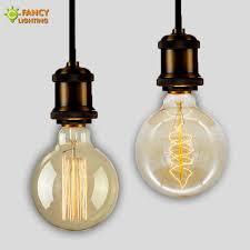 Light Bulb Ceiling Light Vintage Edison Light Bulb G125 Incandescent Decorative Bulb E27