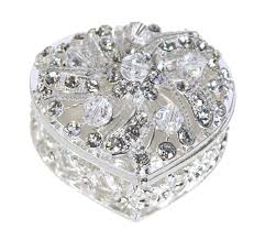 Crystal Keepsake Box Wedding Unity Coins Arras De Boda Heart Shaped Chest Box With