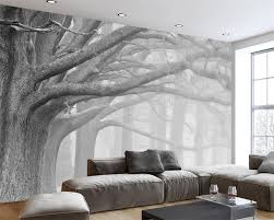 Wall Mural White Birch Trees White Tree Mural Promotion Shop For Promotional White Tree Mural