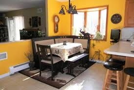 corner nook kitchen table floating cabinet cream marble countertop