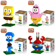 loz diamond blocks buy new 4 box loz diamond block spongebob mr crab squidward
