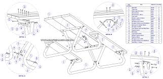 Folding Wooden Picnic Table Plans by Picnic Table Plans