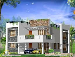 Townhouse Design Plans by Contemporary 2 Story Kerala Home Design 2400 Sq Ft Dream