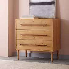Oak Veneer Bedroom Furniture by Benson 3 Drawer Dresser Natural Oak West Elm