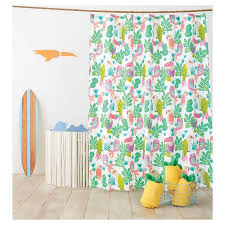 Bright Shower Curtains Awesome Parakeet Paradise Shower Curtain Bright Fern Pillowfort