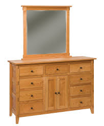 bungalow 9 drawer 2 door dresser amish direct furniture