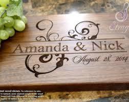engraved cutting board wedding gift personalized engraved cutting board wedding gift