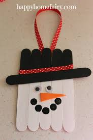 popsicle stick snowman door hanger search happy home fairy and