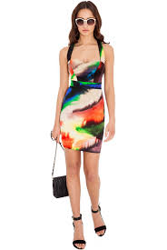 coloured dress multi coloured swirl print dress fashion