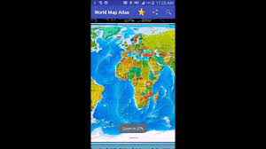 Blue World Map by World Map Atlas Youtube