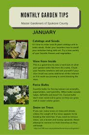monthly gardening tips spokane county washington state university