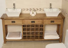 Weathered Wood Bathroom Vanity Distressed Wooden Cabinets As A - Solid wood bathroom vanity uk