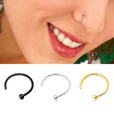 surgical steel earrings allergy black white gold hipsters surgical steel nose studs nose ring