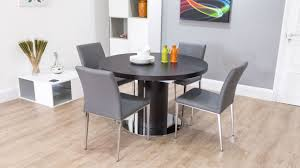 Laminated Timber Floor Dining Room Modern Neutral Leather Dining Chairs Color On