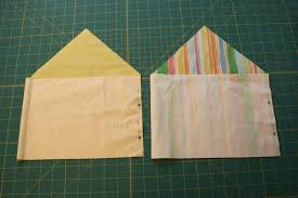 How To Fold Envelope How To Sew A Button Closure Pouch Chica And Jo